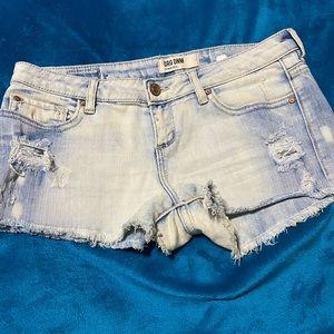 Bleached Cut-off Denim Shorts